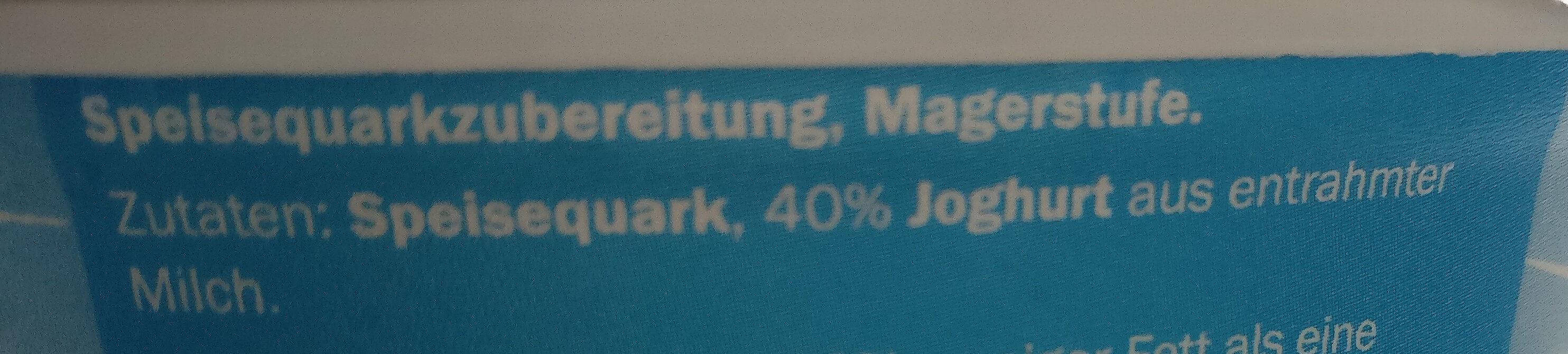 Quark-Traum Classic - Der Leichte - Ingredients
