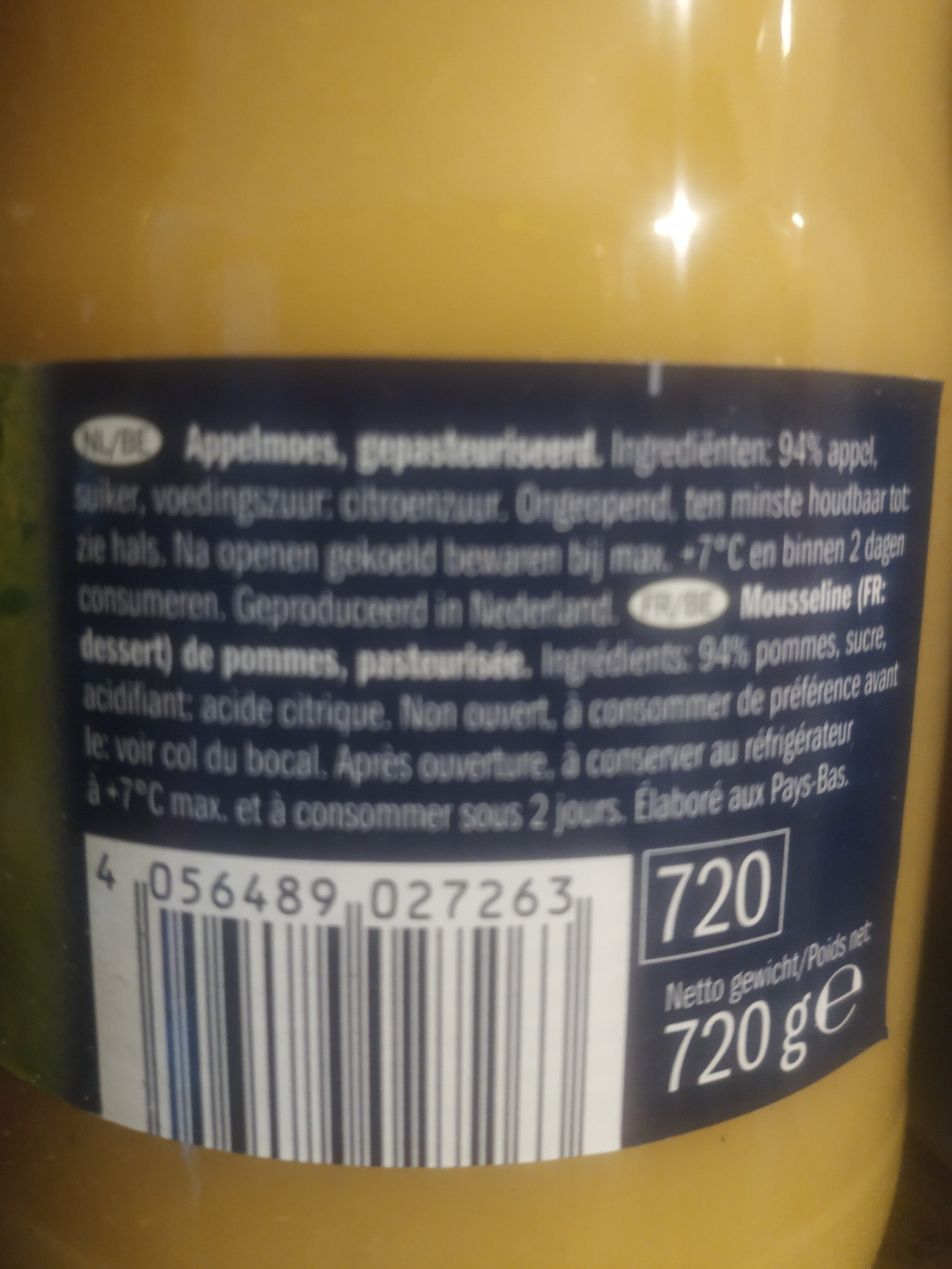 Mousseline de pomme - Ingrediënten - nl