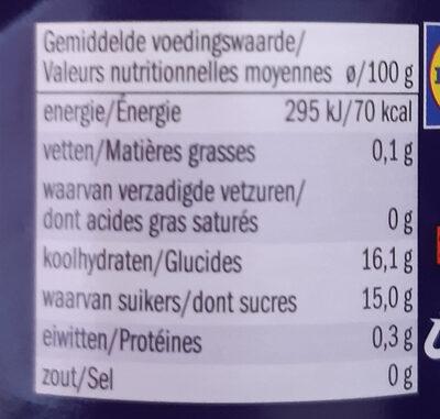 Mousseline de pomme - Voedingswaarden - fr