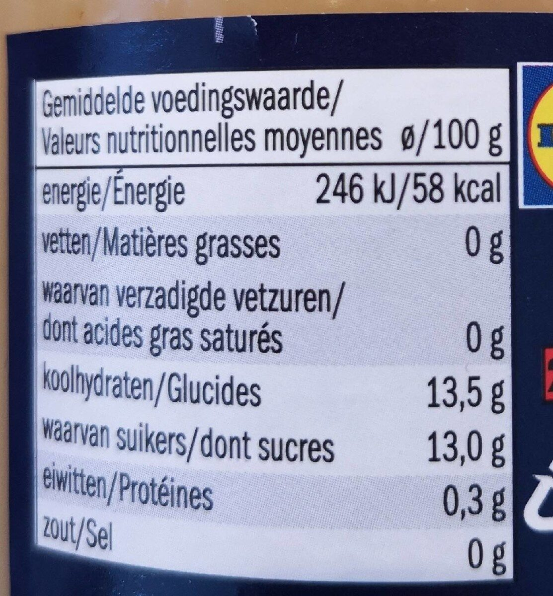 Mousseline de pomme - Nutrition facts - fr