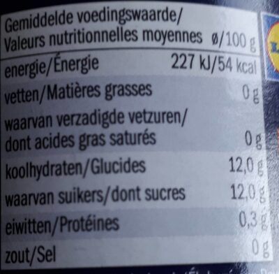 Applemoes - Purée de pommes 100% - Voedingswaarden - nl