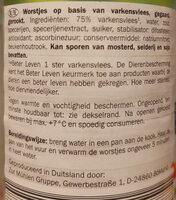Bockworst gerookt - Ingredients - nl