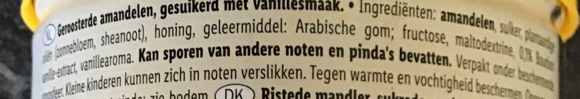 Almonds, vanilla - Ingrediënten - nl