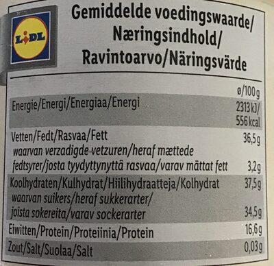 Almonds, vanilla - Voedingswaarden - nl