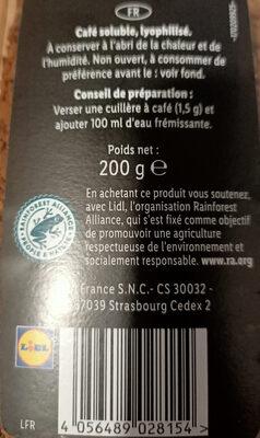 Café soluble qualité filtre - Produit - fr