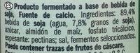 Yogurt natural de soja - Ingrediënten - es