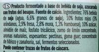 """Postre de soja """"Milbona"""" frutos del bosque - Ingredientes"""