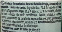 Postre Soja melocotón - Ingredients