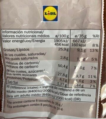 Bizcochos - Informations nutritionnelles - es