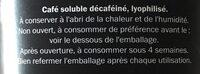 Café soluble décaféiné - Ingrédients - fr