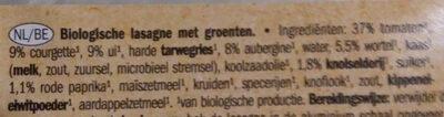 Lasagne Gemüse - Ingrediënten - nl