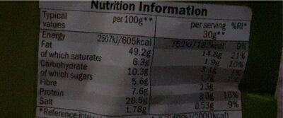 Pistachios - Informations nutritionnelles - en