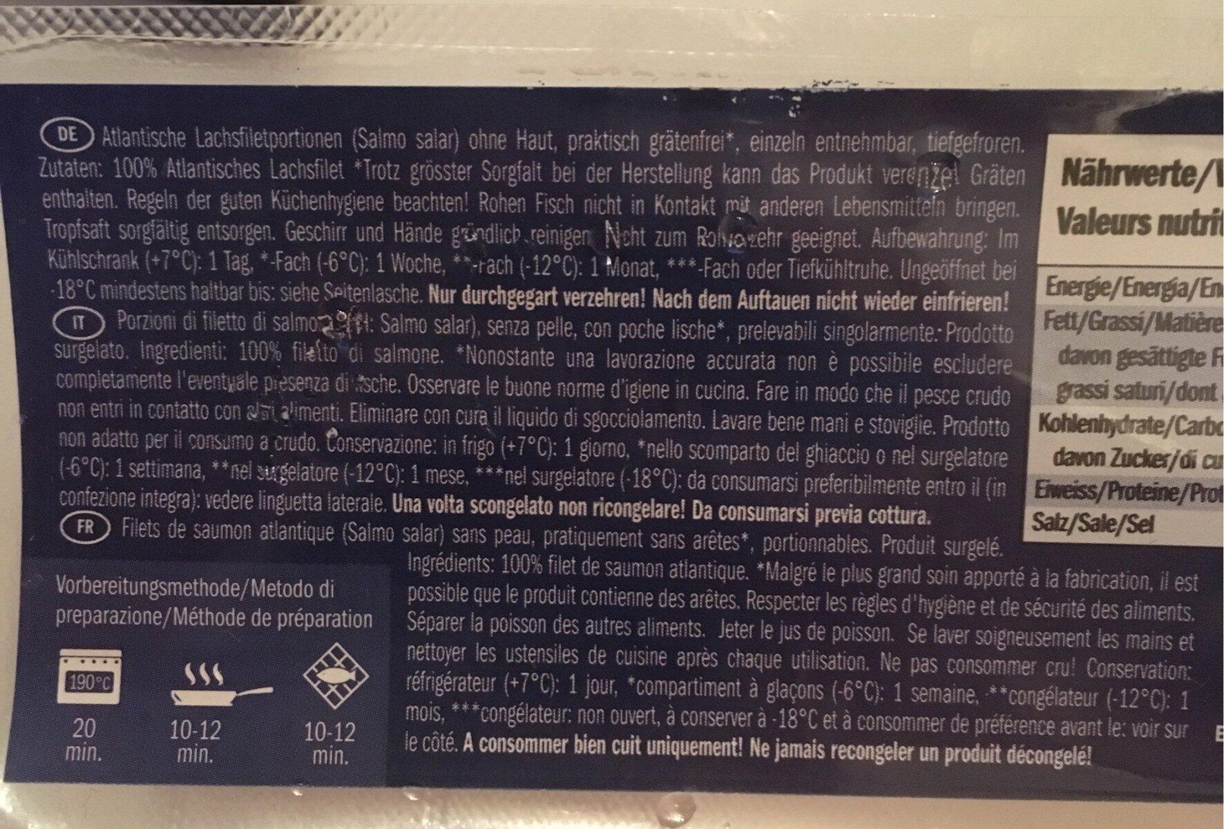 Filet de saumon sans peau - Ingredients - fr