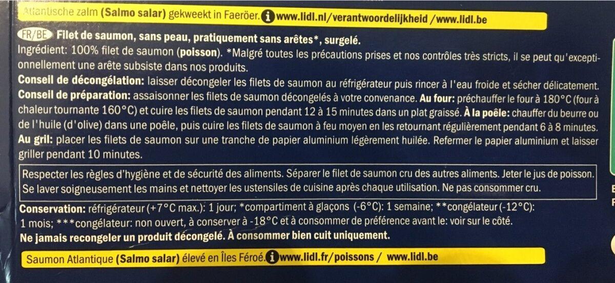 Filet de saumon - Ingrediënten - nl
