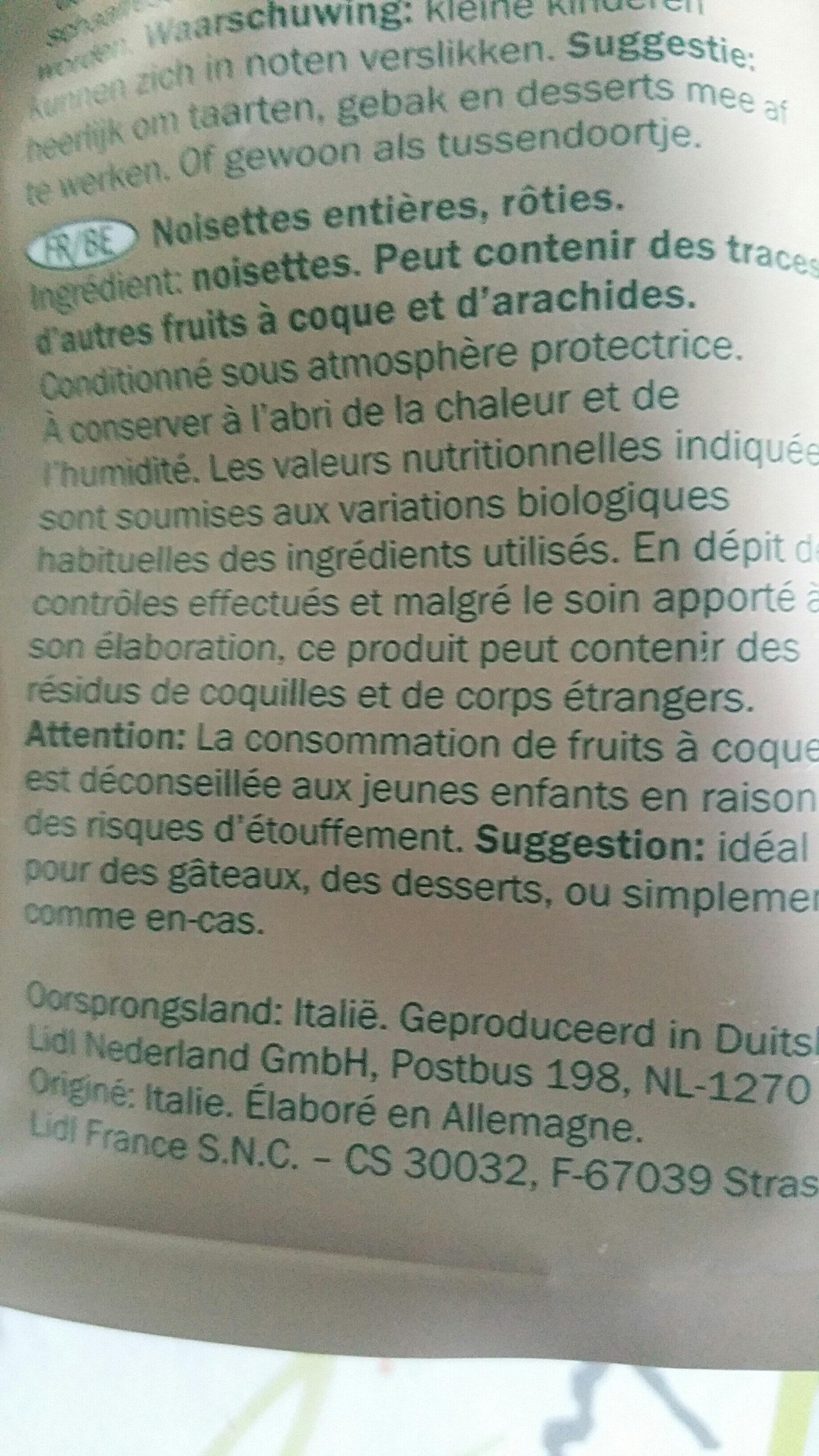Noisettes grillées - Ingrediënten - fr