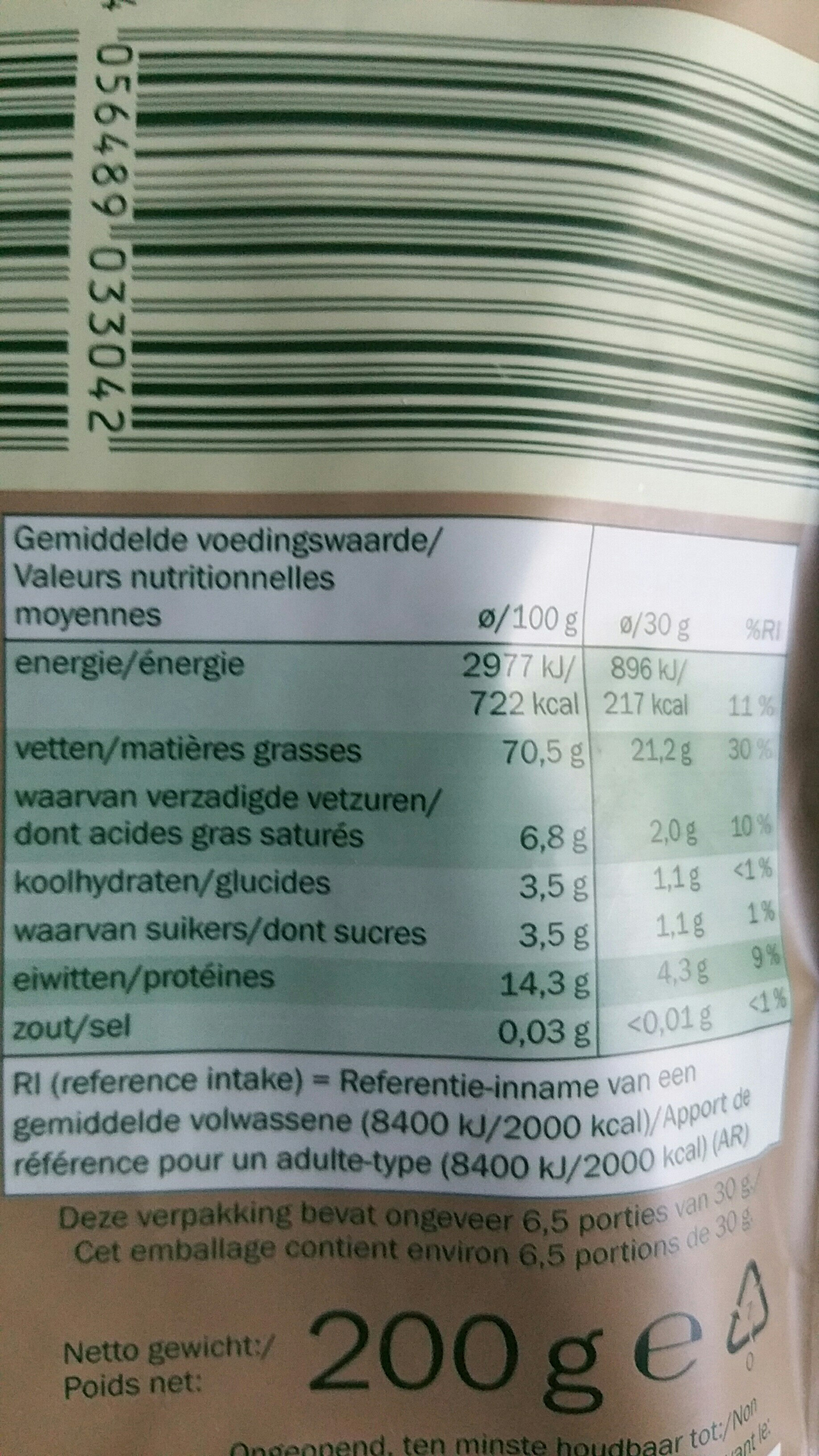 Italian hazelnuts - Voedingswaarden