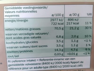 Noisettes grillées - Voedingswaarden - fr