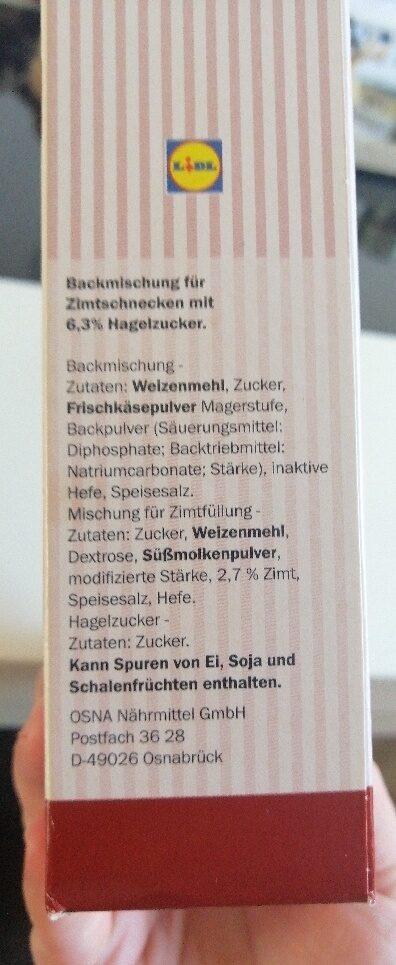 Mini Zimtschnecken - Zutaten - de