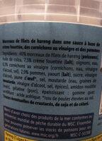 Morceaux de filets de harengs - Ingrédients - fr