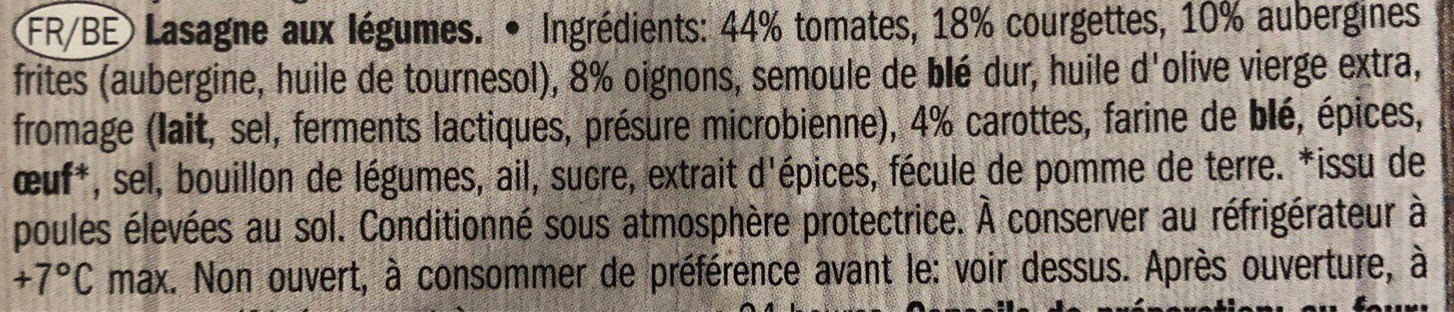 Lasagne vegetariennes - Ingrediënten