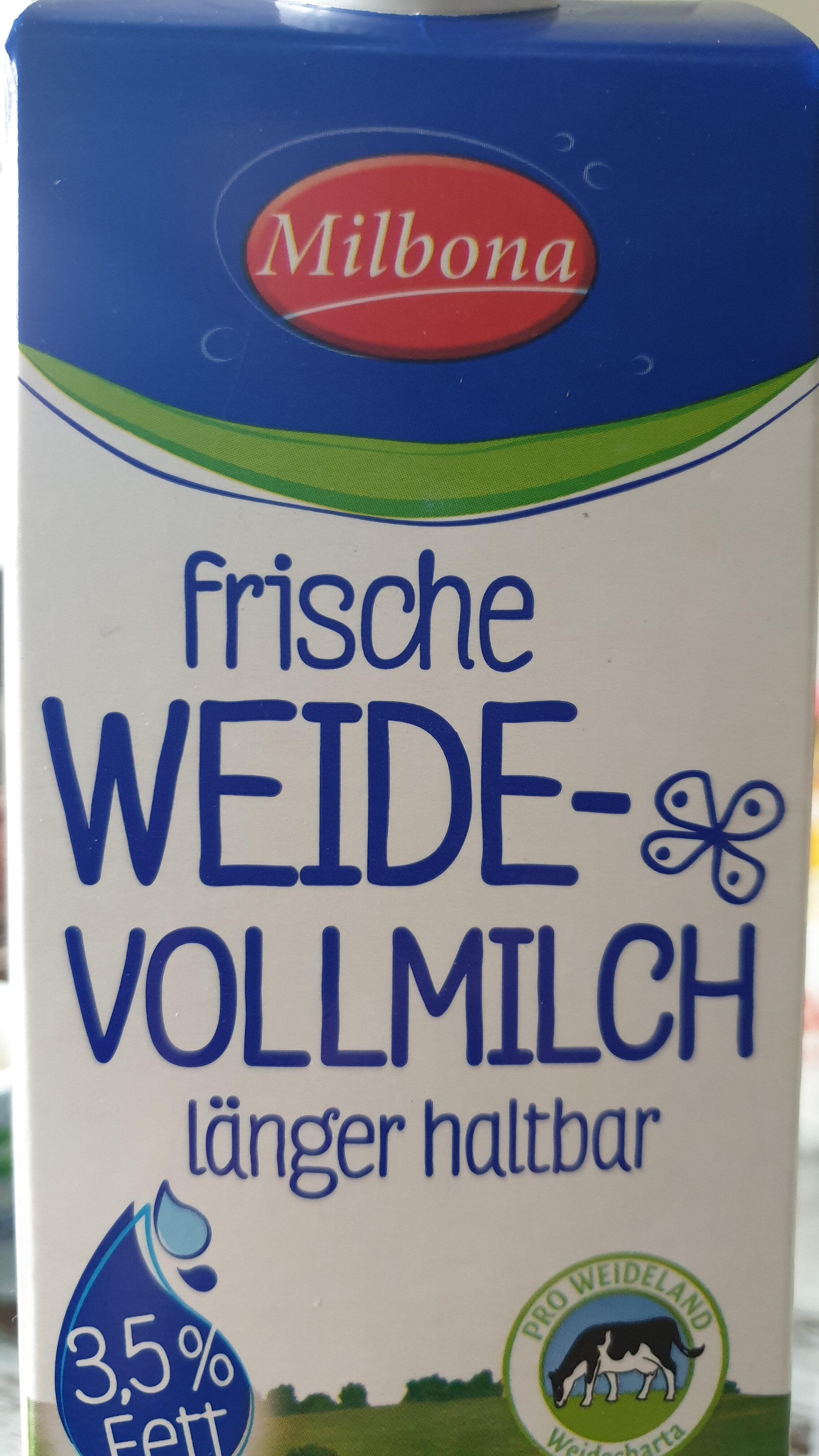 Frische Weide-Vollmilch - Produkt