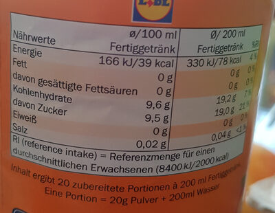 Instant Peach Flavoured Tea Drink - Nutrition facts - de