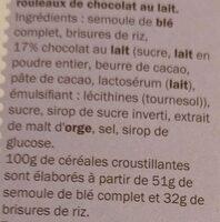 Spécial FLAKES chocolat au lait - Ingredients - fr
