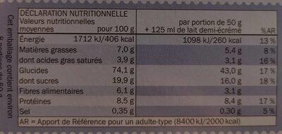 Spécial FLAKES chocolat au lait - Nutrition facts - fr