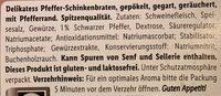 Delikatess Pfefferschinkenbraten - Ingredienti - de