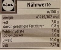 Delikatess Pfefferschinkenbraten - Valori nutrizionali - de