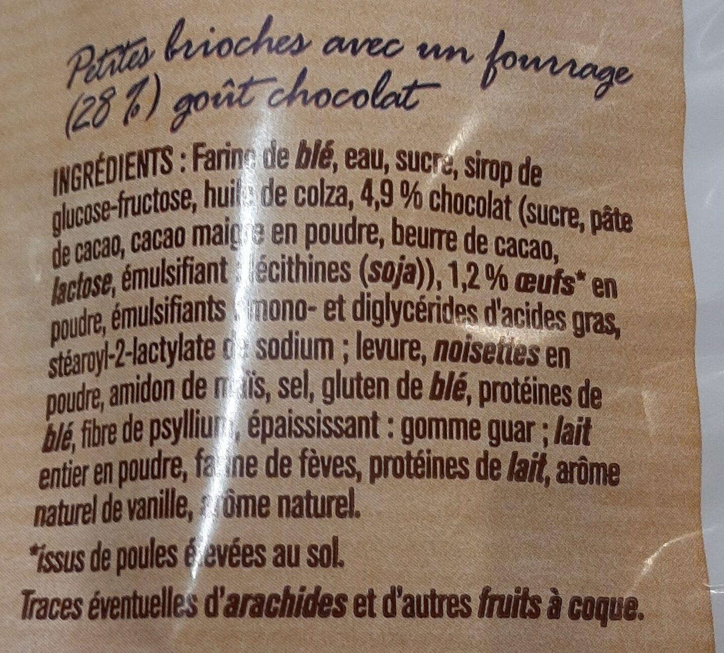 Brioche fourrées goût chocolat - Ingrédients - fr