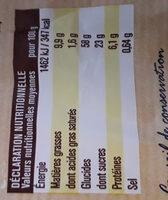 Brioche fourrées goût chocolat - Informations nutritionnelles - fr
