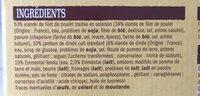 Cordons bleus de poulet - Ingredients - fr