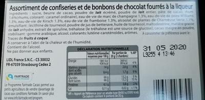 Chardons liqueurs - Ingrédients - fr