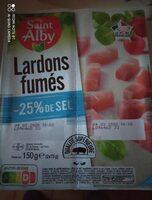Lardons fumés - 25% de sel - Produit - fr
