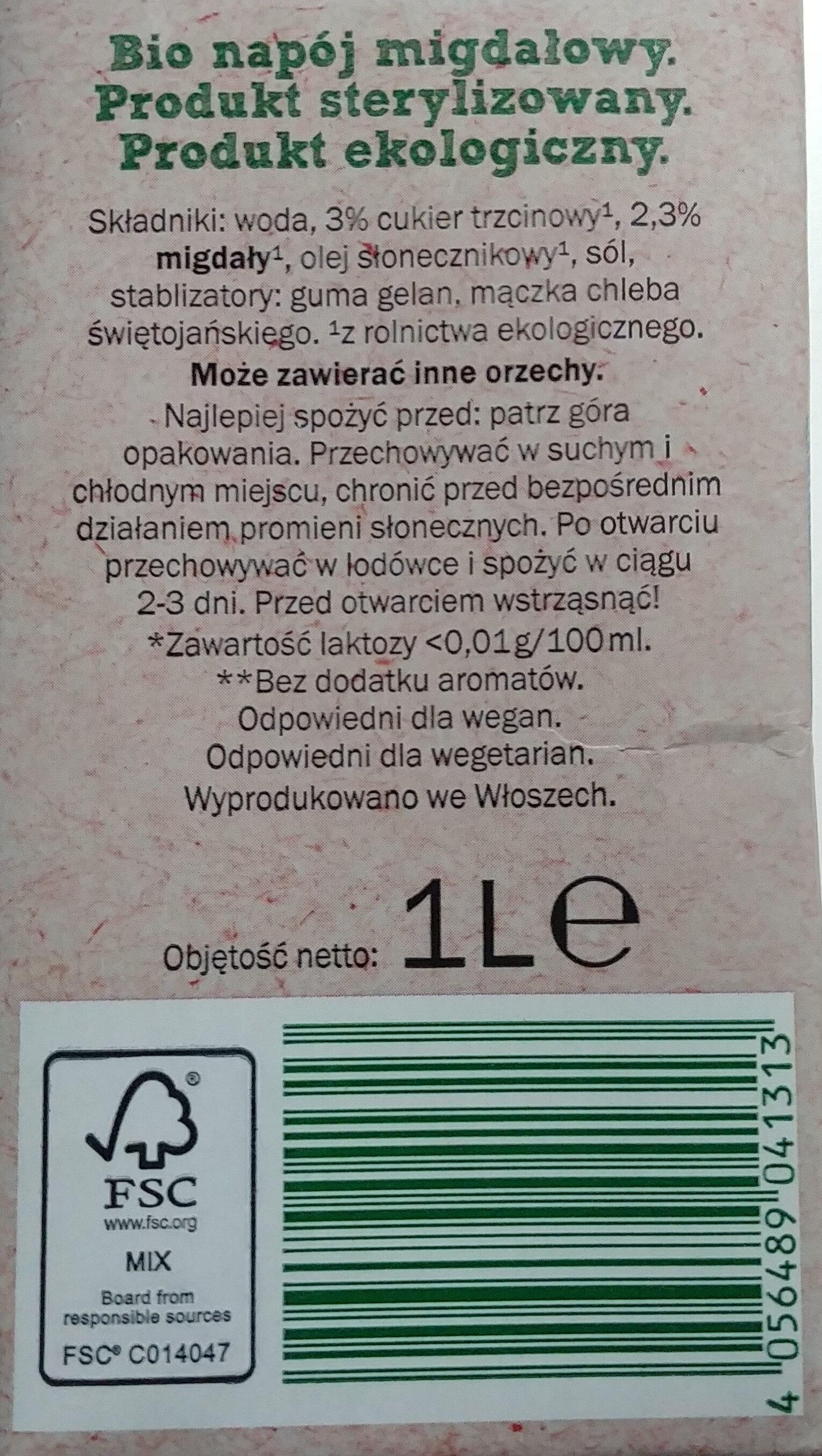Mandel Milch - Składniki - pl