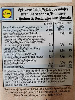 Bio Organic Almond Drink - Voedingswaarden - en