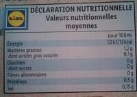 Bio Organic Almond Drink - Informations nutritionnelles - fr