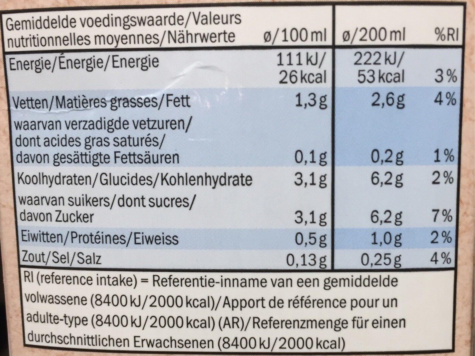Mandel Milch - Informations nutritionnelles - fr