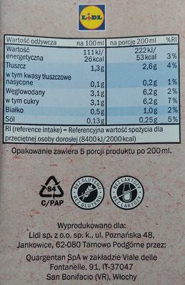 Mandel Milch - Wartości odżywcze - pl