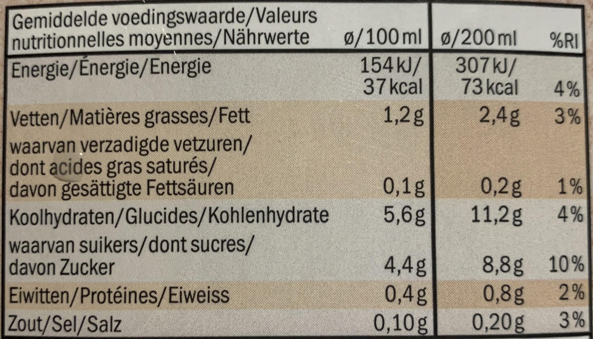 Hafer Drink - Nutrition facts - de