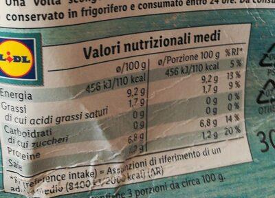 Sugo allo scoglio - Voedingswaarden - it