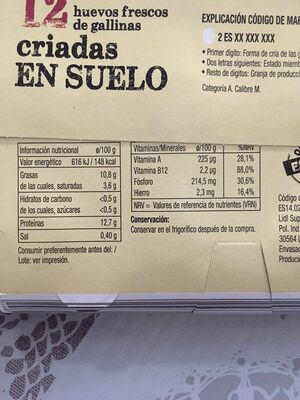 Huevos - Ingredientes - es