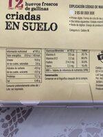 Huevos - Nutrition facts - es