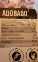 Lomo adobado de cerdo - Informations nutritionnelles - es