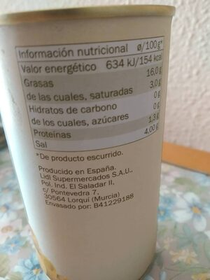 Aceitunas Manzanilla Rellenas de Anchoa