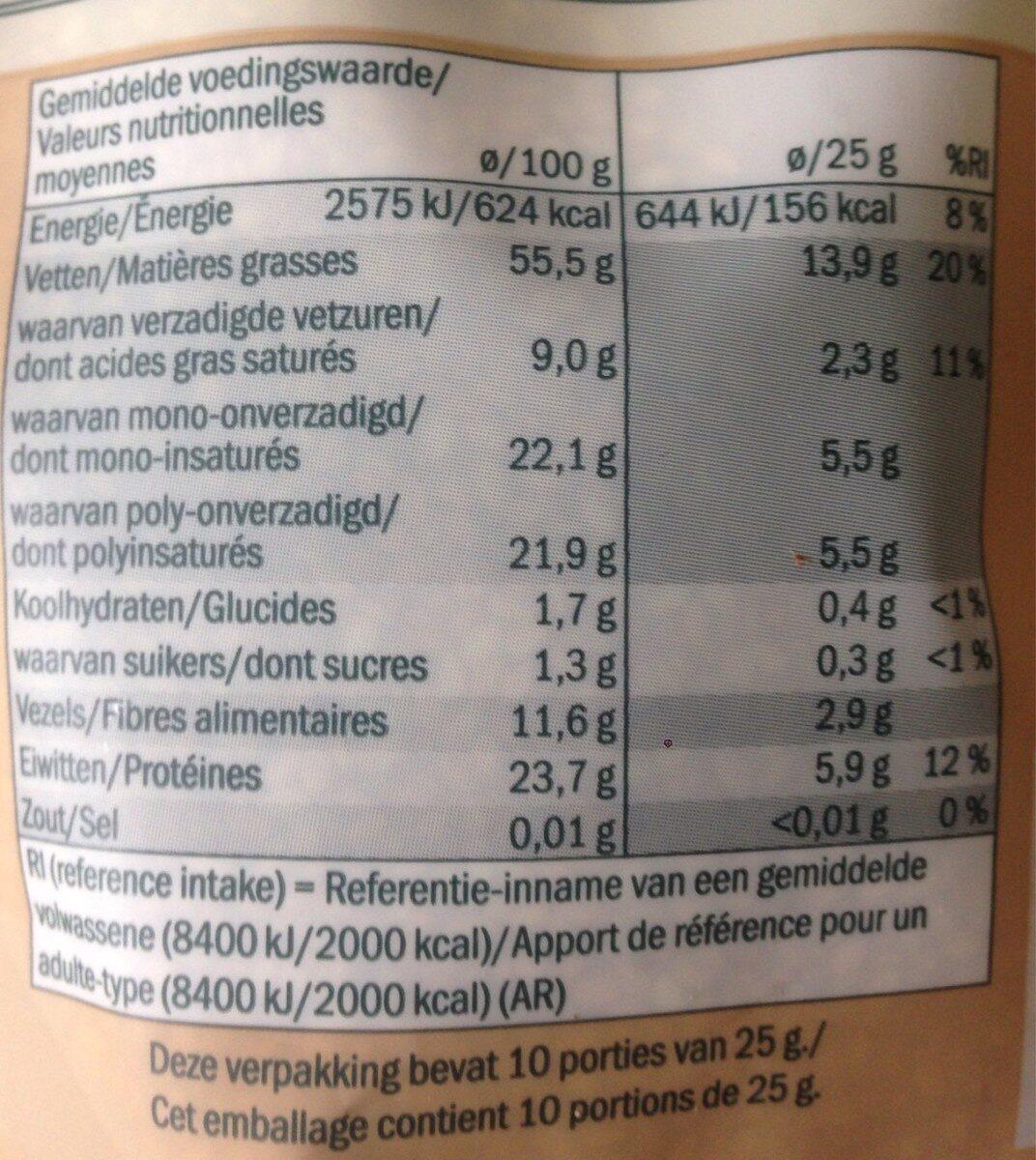 Graines de sésame toastées - Informations nutritionnelles - fr