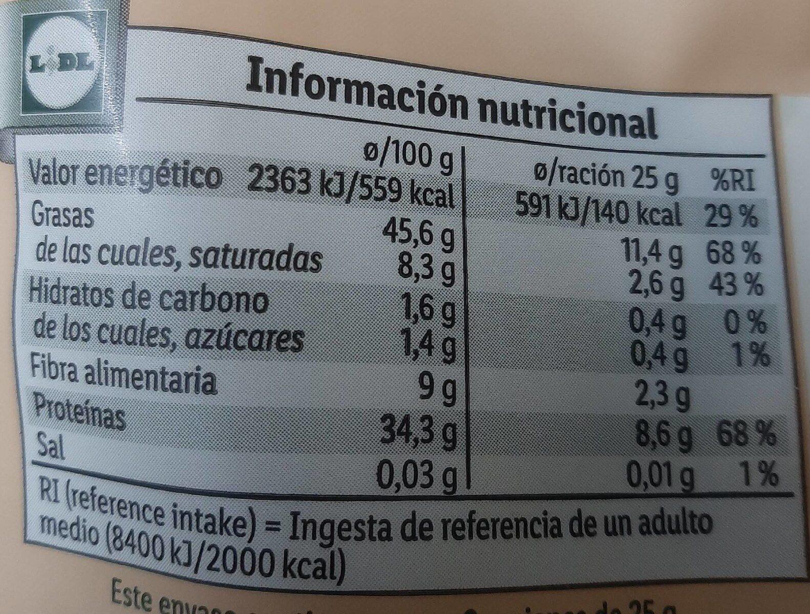 Graines de courge - Valori nutrizionali - fr