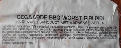 BBQ worstjes - Ingredients - nl