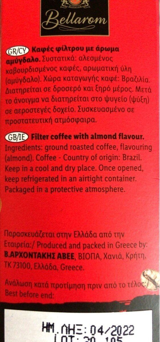 Essencia Almond - Διατροφικά στοιχεία - fr
